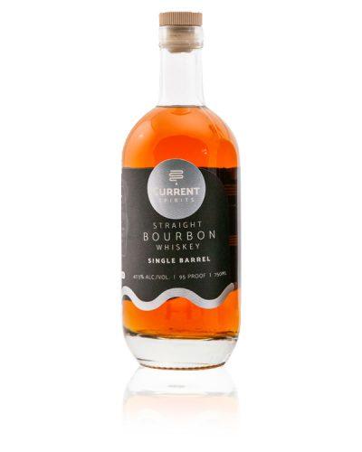 Bottle of Single Barrel Straight Bourbon Whiskey